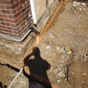Drainage protected with 10mm shingle