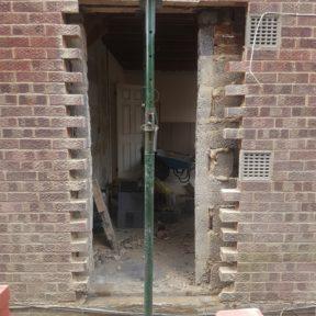 15 Door brick up