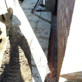 4 inch underground pipework