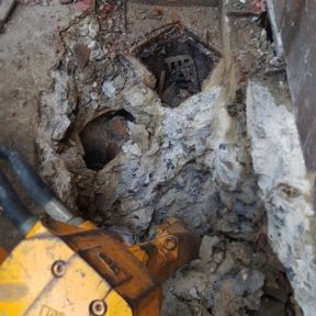Existing concrete gully