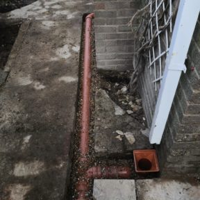 4 inch underground pipe from down pipes