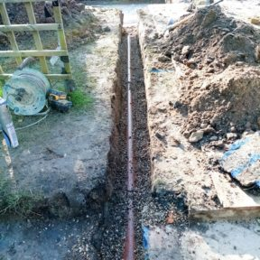 4 inch underground pipe