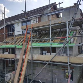 Double storey side extension 14