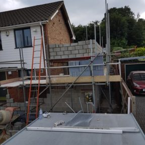 Double storey side extension 16