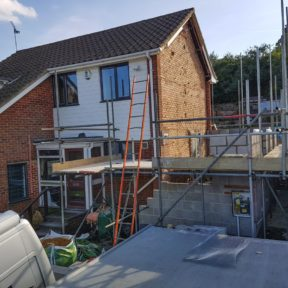 Double storey side extension 17
