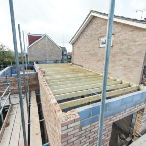 Double storey side extension 34