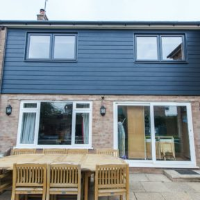 Double storey side extension 9