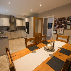 Open plan kitchen completed