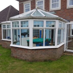 Existing P shape conservatory