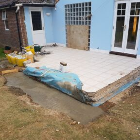 New foundation dug and concreted