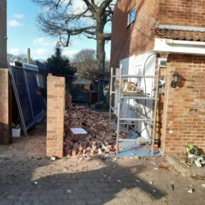 Removal of existing garage