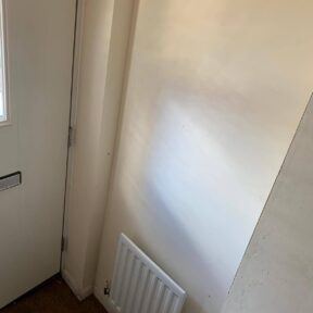 Existing wall in hallway