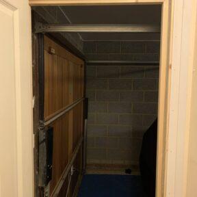 New door opening in hallway