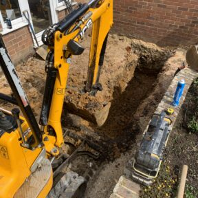 Digging foundations